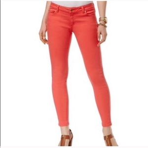 Michael Kors Orange Cropped Skinny Jeans